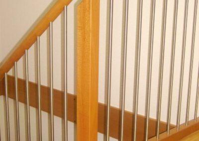 Rampe d'escalier en bois-métal