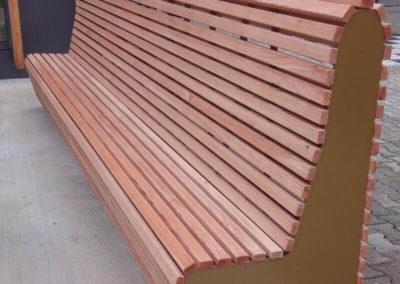 Banc extérieur en bois