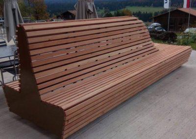 Grand banc extérieur bois